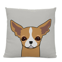 Chihuahua Pillow - Chihuahua on gray Pillow - Chihuahua decor - Chihuahua gift - Funny Chihuahua Pillow - Chihuahua art - kid's room decor