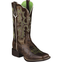 10005867 Women's Western Wide Toe Ariat Boots from Bootbay, Internet's Best Selection of Work, Outdoor, Western Boots and Shoes.