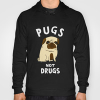 Pugs Not Drugs Hoody by Gemma Correll