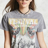 Festival Graphic Cropped Tee