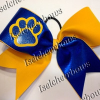 3 inch custom cheer bows with paw