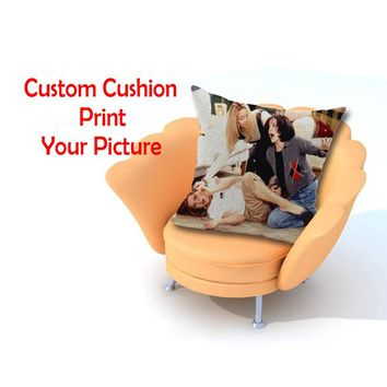 Custom Linen cotton cushion throw pillows Cover Print With Your Pictures Texts Design Photos Unique DIY cushions home decor