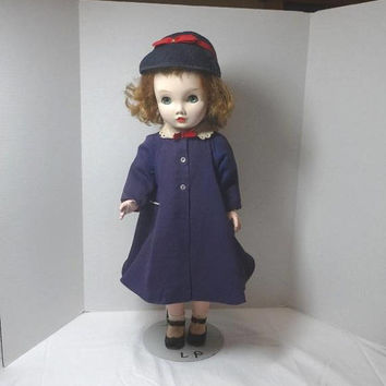1950s Vintage Madame Alexander 25 Inch Winnie Walker Doll & Original Clothes, Coat, Dress, Lingerie, Vintage Doll, Vintage Madame Alexander