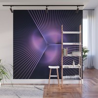 Purple Rays Wall Mural by lyle58