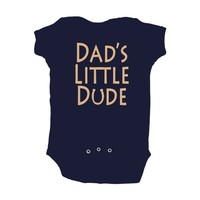 Cute Baby Boy Dad's Little Dude Adorable One Piece Soft Cotton Infant Bodysuit