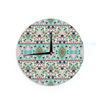 "Vasare Nar ""Deco Hippie"" Wall Clock"