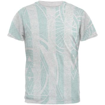 Summer Sacred Geometry Teal Stripes Mens T Shirt
