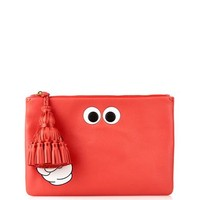 Victory Eyes Georgiana leather clutch