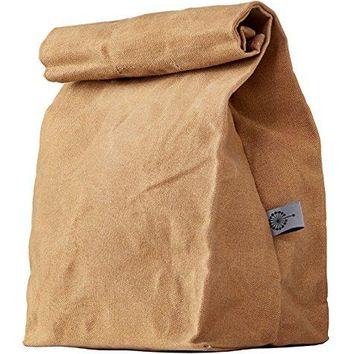 Lunch Bag | Waxed Canvas | Durable | Biodegradable | Brown | For Men, Women & Kids