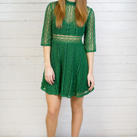 Sydney Lace Sweetheart Dress