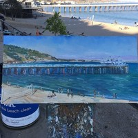 Malibu Pier Original Oil Painting by John Kilduff
