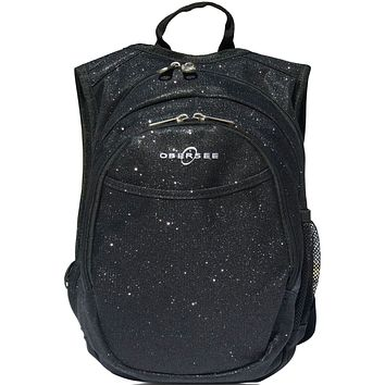 Obersee Pre-School Sparkle Backpack with Integrated Snack Cooler - Black