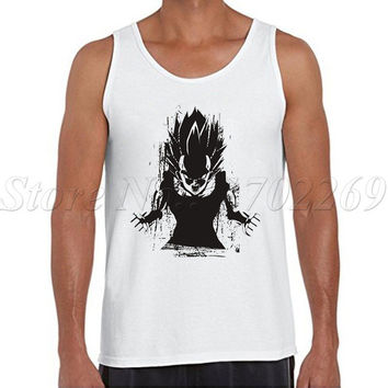 Saiyan Power up Men tank tops fashion Angry Saiyan casual Vest Don't Ever Give Up The Dragon Ball Z hipster singlets