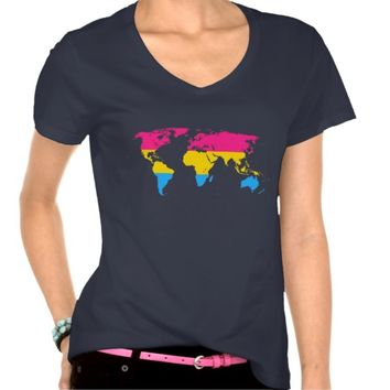 Pansexuality pride world map T-Shirt