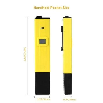 Portable Digital PH Meter Tester Pocket Pool Water Aquarium Hydroponic Wine Testers Tool