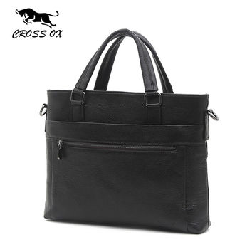 Spring New Arrival Men's Genuine Leather Briefcase Portfolio Bags For Men Satchel Business Handbag Fashion