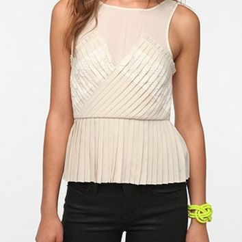 Pins and Needles Accordion Pleat Peplum Tank