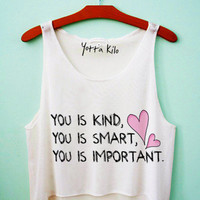 You is Important Quote Crop Tank Top