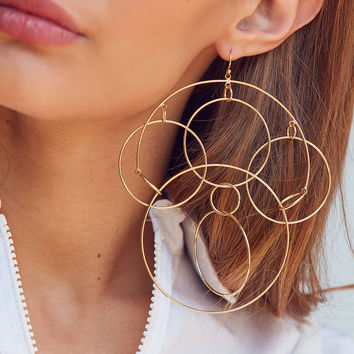 Looped Statement Earring | Urban Outfitters