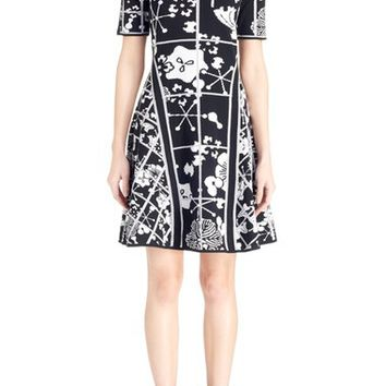 KENZO 'Tanami Flower' Intarsia Knit Fit & Flare Dress | Nordstrom