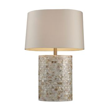 D1413 Trump Home Sunny Isles Table Lamp In Genuine Mother Of Pearl - Free Shipping!