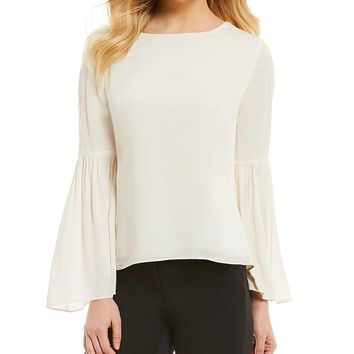 Alex Marie Elsbury Long Bell Sleeve Blouse | Dillards