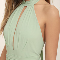 First Comes Love Sage Green Maxi Dress