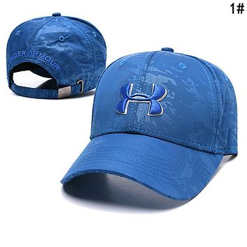 Under Armour Summer Trending Embroidery Sports Sun Hat Baseball Cap Hat 1#