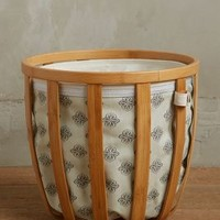 Northern Hemisphere Hamper by Anthropologie in Grey