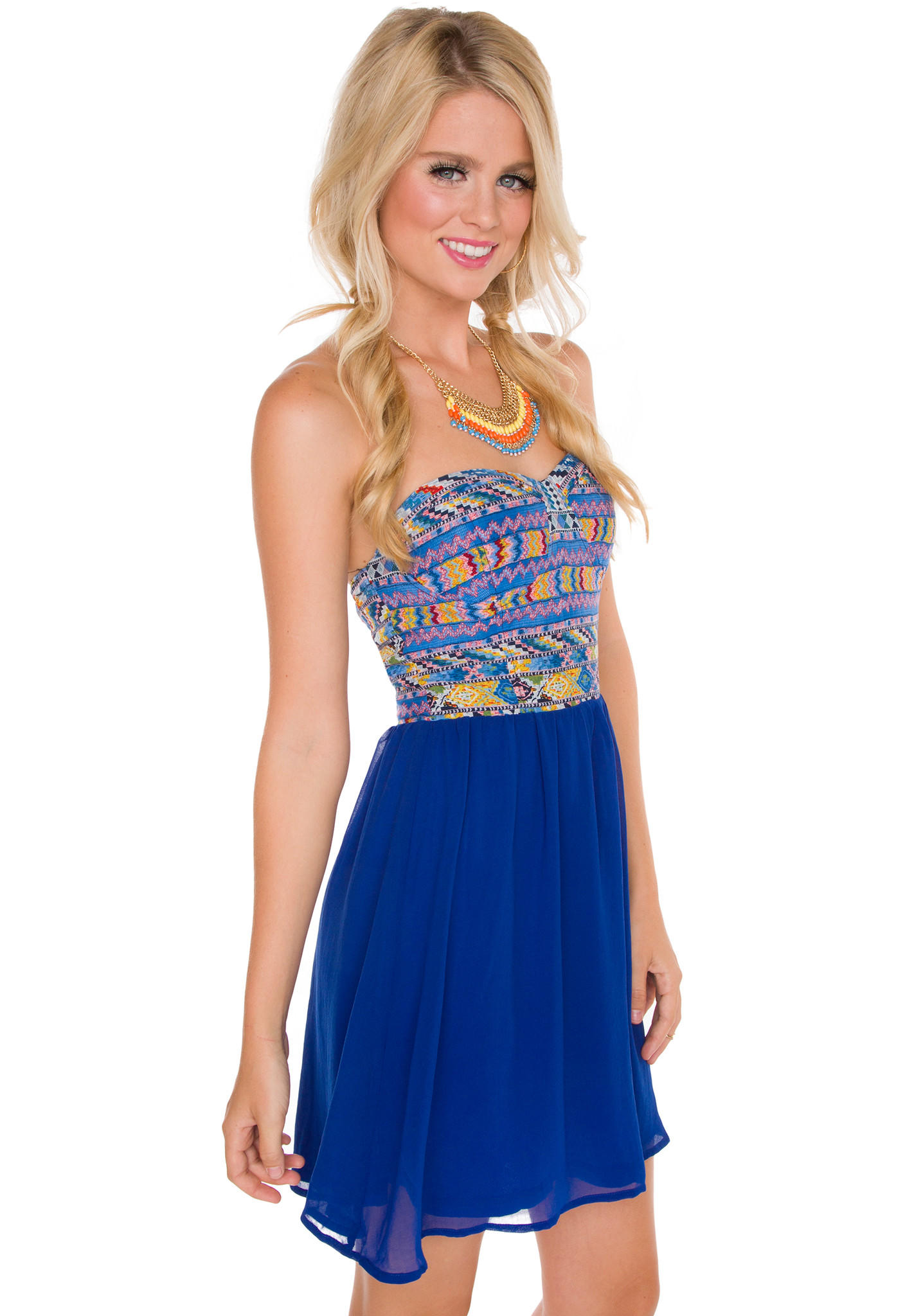 Organizing Shirts In Closet Nia Aztec Dress Blue From Shop Priceless New Arrivals