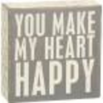 Heart Happy Box Sign By Primitives By Kathy