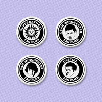 Supernatural fan club button set