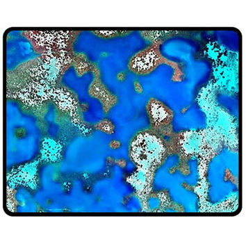 Cocos Reef Sinkholes Double Sided Fleece Blanket (Medium)