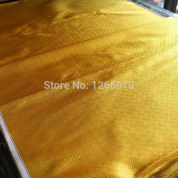 chinese silk brocade  fabric cheongsam cushion golden Wan word pattern Tapestry satin