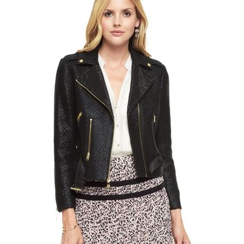 Coated Boucle Embellished Moto Jacket by Juicy Couture