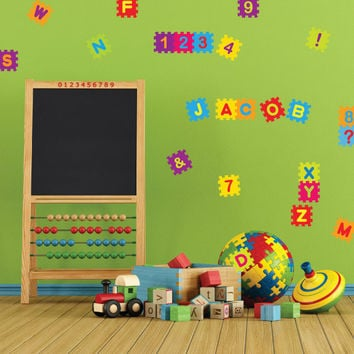 Nursery wall decals - Puzzle Blocks