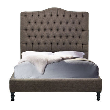 Custom Upholstered Tufted Platform Bed