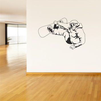 Wall Vinyl Decal Sticker Decals Snowboard Snowboarder Snow Cool Funny  z42