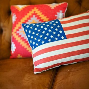 FLAG PILLOW - Junk GYpSy co.