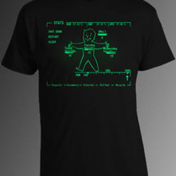 Fallout T-Shirt Fallout Pipboy Rainmeter T-Shirt Fallout 4 T-Shirt Pipboy Shirt