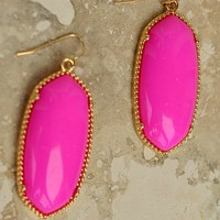 Pop of Color Earring- Dangle Statement Earring-$20.00 | Hand In Pocket Boutique