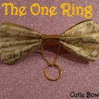 The One Ring Hair Bow Lord of the Rings Inspired