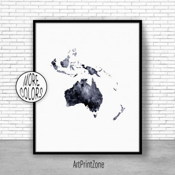 Australia Map, Australia Print, Globe Art, Globe Print, Globe Decor, World Map Poster, World Map Wall Art, World Map Print, World Map Decor