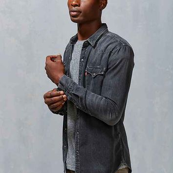 Levi's Washed Denim Western Button-Down Shirt