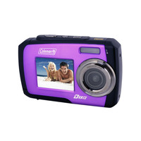 Coleman Duo 2V7WP-P 14MP Digital Camera with 2.7-Inch LCD (Purple)
