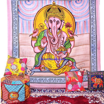 Awsome lord Ganesha tapestry, queen size wall hangings, tapestry wall hanging, hippie hippy mandala tapestry, indian dorm decor, bedspread