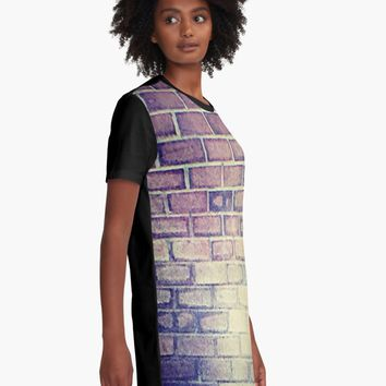 """""""Vintage Brick """" Graphic T-Shirt Dress by jessicaivy 