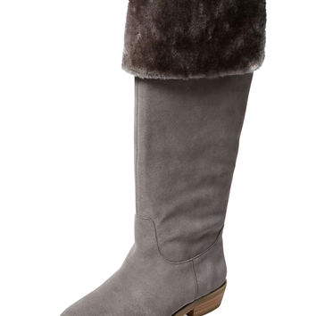 Hunter Faux Fur Lined Foldover Boot