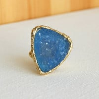 Granted Wish Druzy Ring [3173] - $14.00 : Vintage Inspired Clothing & Affordable Fall Frocks, deloom | Modern. Vintage. Crafted.