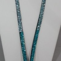 "Brand New-December Diamonds Turquoise ,Pale Aqua, to ""Diamond"" Fade Rhinestone Employer Identification Lanyard for ID Display.Perfect Nurse Graduation or Appreciation Present.Perfect Nurse Graduation or Appreciation Present.Display your Employer ID with Pr"